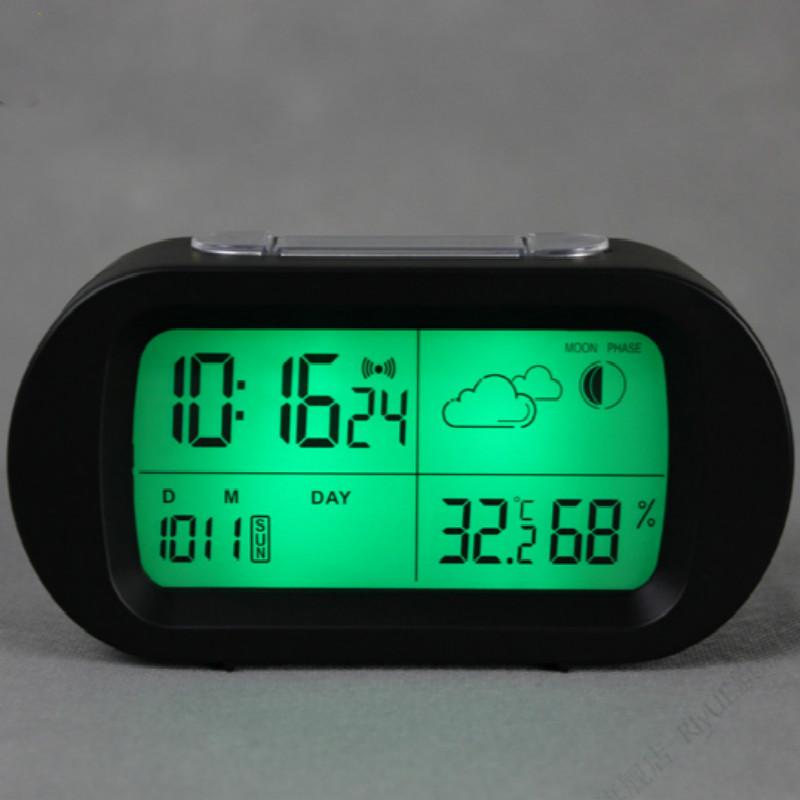 alarm clocks led electronic desk clock luminova modern digital clock with thermometer reloj despertador(China (Mainland))