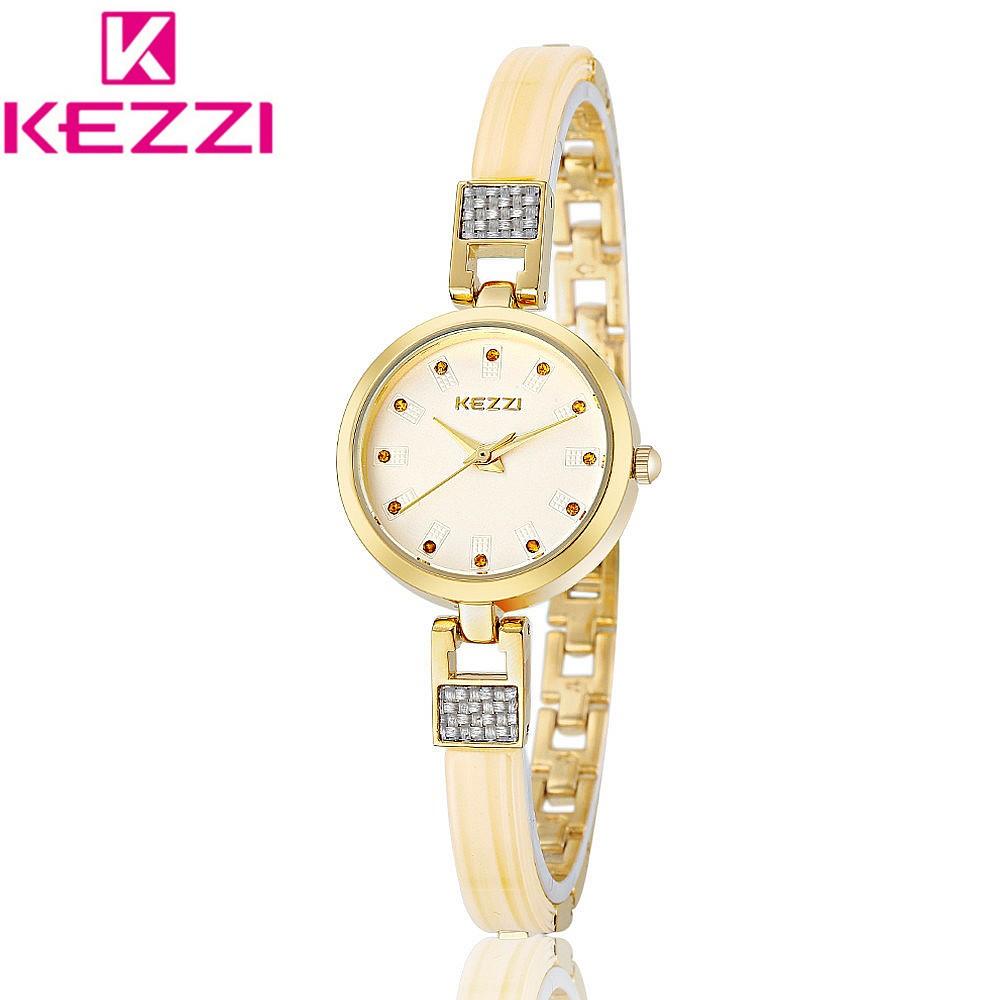 KEZZI KW1168 Luxury Brand Fashion Gold Bracelet Wristwatch Women Clock Ladies Famous Quartz Watch Relogio Feminino Gift KZ84