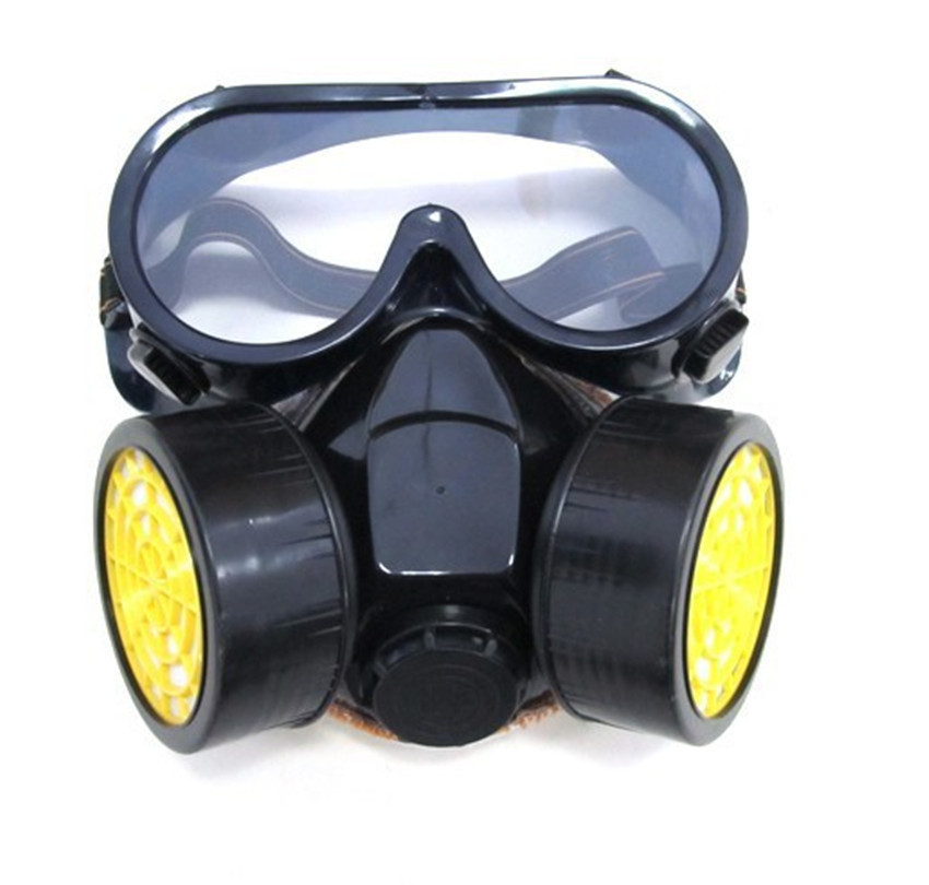Gas mask Strong anti- fog and haze breathable dual canister Soft Silicone respirator masks for painted protective mascara de gas(China (Mainland))