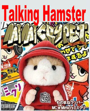 2014 Hot Children Gift Talking Hamster Speak Talking Sounding Record Hamster Christmas Gifts Plush Toys Animal with DJ Character(China (Mainland))