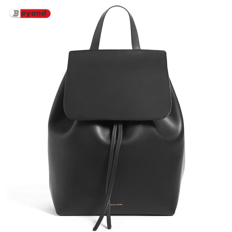 Real Leather Mansur Gavriel Backpack Luxury Famous Brand Designer Genuine Leather Women Ladies Ruddick Beach Bucket Backpack