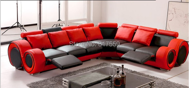 modern sofa set in red color(China (Mainland))