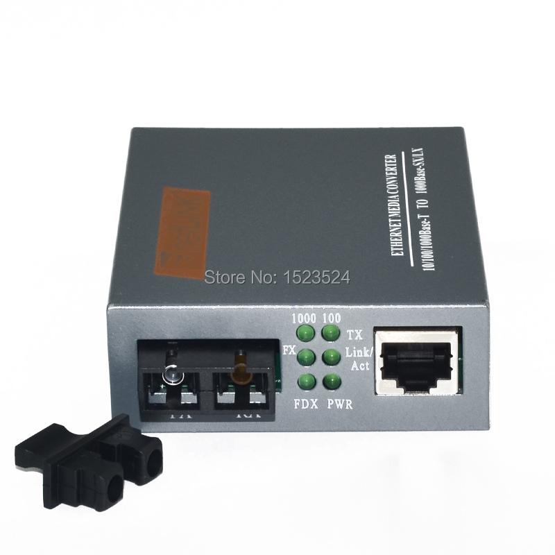 Free Shipping HTB-GS-03 Gigabit Fiber Optical Media Converter 1000Mbps Single Mode Duplex SC Port 20KM External Power Supply(China (Mainland))