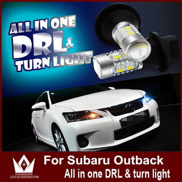 Special Car Design  Subaru outback 2004 DRL &turnlight WY21W 7440(T20) for Subaru Outback DRL&Front Turn  Signals  All In One