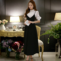 Original 2016 Brand Vestidos Summer Plus Size Sleeveless Fashion Elegant Casual Black Long Dresses Women Wholesale