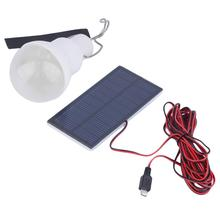 1pcs 0.8W/5V Portable Solar Power LED Bulb Lamp Solar panel Applicable Outdoor Lighting Camp Tent Fishing Lamp Garden Light(China (Mainland))