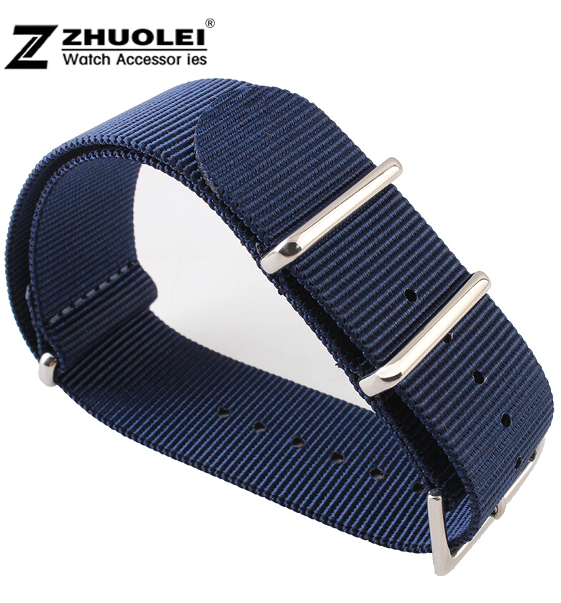 24mm NEW Man High Quality Bule Nylon Fabric Canvas Watch Bands Strap Free Shipping<br><br>Aliexpress