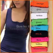 Sexy Women s Button Tank Top Casual Cami Sleeveless Vest Waistcoat Bodycon T Shirt 9 colors