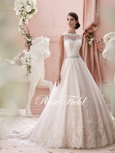 new 2016 white collar, ivory bag buckles sleeveless wedding dress inventory WeiHua edge free postage