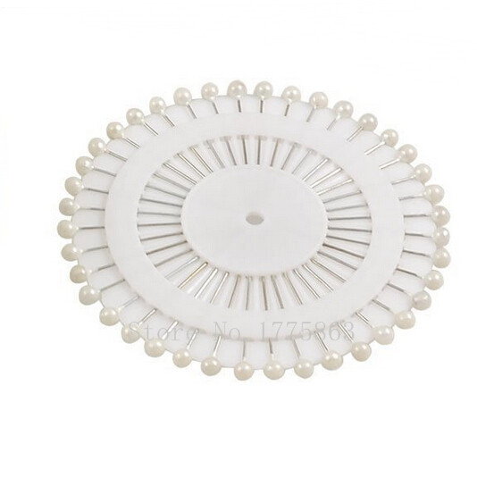 """40PCS 1.5"""" White Faux Round Pearl Straight Head Pins , Dressmaking Sewing Pin Craft Tool AA7506(China (Mainland))"""