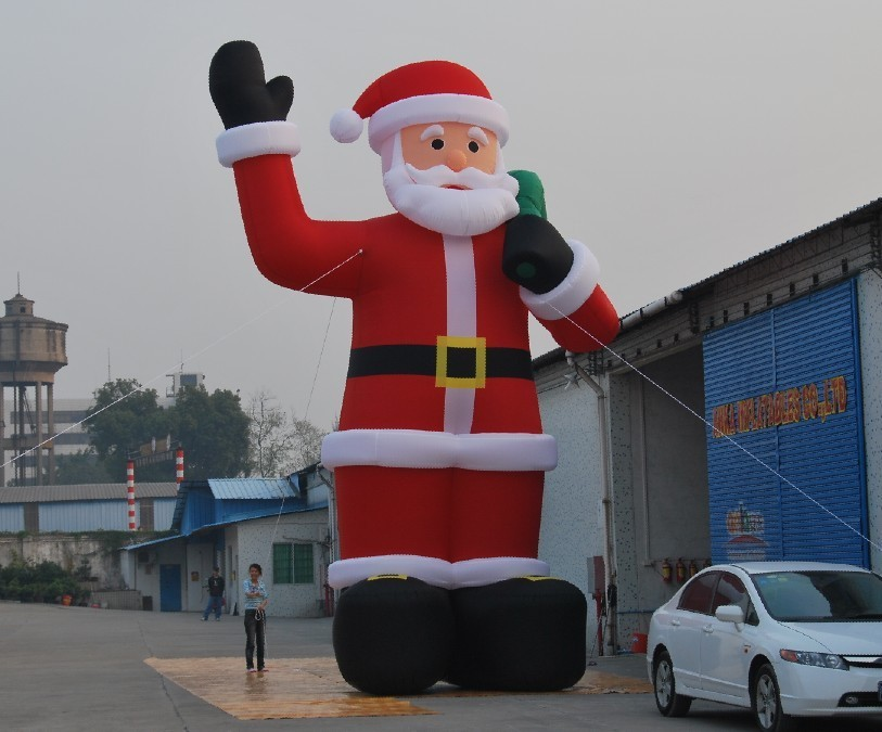 6m high air dancer inflatable giant christmas santa claus with blower freeshipping for advertising(China (Mainland))