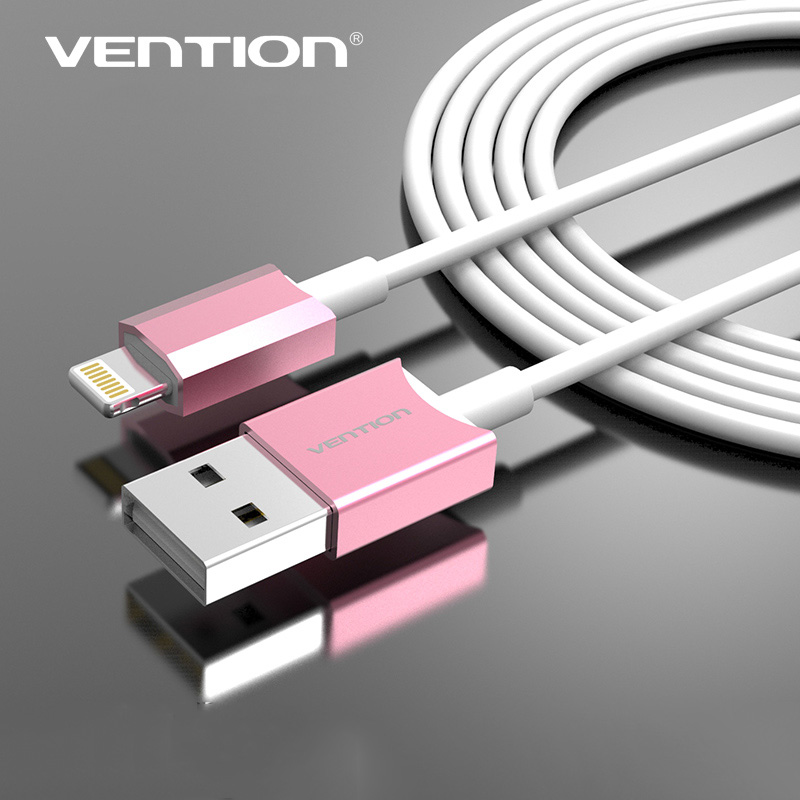 Vention 8Pin USB Charging Charger Data Sync Adapter USB Cable 5 Feet Black Charging Cord for Apple iphone 5/5s/5c/6/6 Plus(China (Mainland))