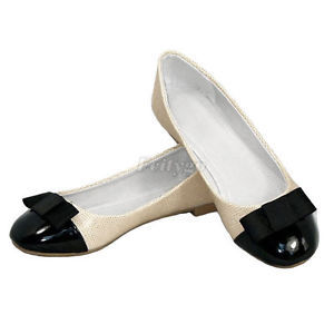 High Quality New Womens Ladies Bow Designer Dolly Shoes Flat Ballerina Ballet UK (ex26) Free Shipping(China (Mainland))
