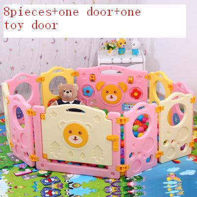 Free shipping Baby game fence child fence playpen creepiness toddler ocean ball pool 8 small pcs(China (Mainland))