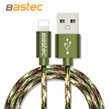 Bastec Camouflage 8 pin Metal Braided Wire Sync Data Charger USB Cable for iPhone 7 6s