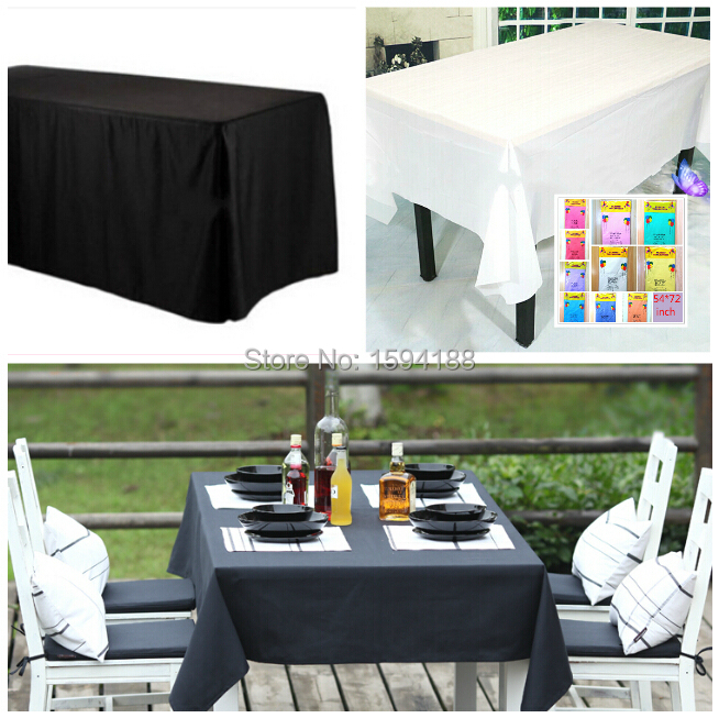 wedding Toalha De Mesa tablecloths solid black/white table cloths birthday party supplies Oilproof table cover Disposable party(China (Mainland))