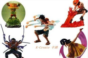 Free shipping 5pcs Japana anime one piece Luffy Zoro Chopper Ace pvc figure toys tall 8cm set wholesale.