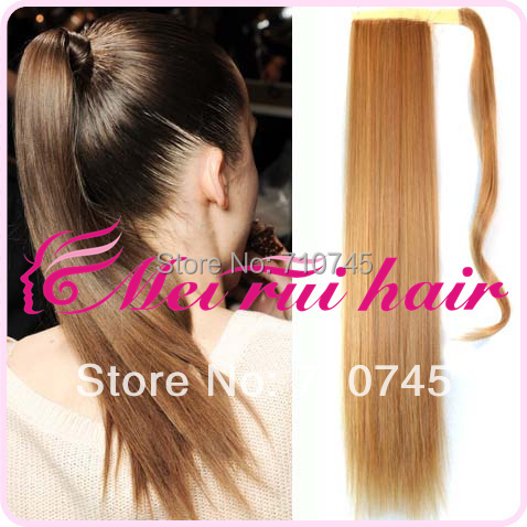 1 pcs magic hair extension pop  fashion girl Hair Piece straight Ponytail Pony Tail LADY Clip On Hair Extension free shipping<br><br>Aliexpress