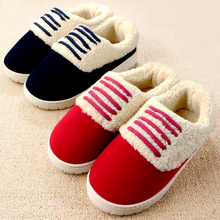 Slippers Women 2016 New Winter Indoor/home Shoes Slipper Men Warm Thicken Pantuflas Cotton-padded House Flat Shoes Pantufa