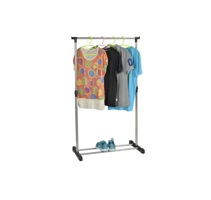 Portable Stainless Steel Clothes Organizer Hanger Rack Garment Coat Cloth Shoes Dryer(China (Mainland))