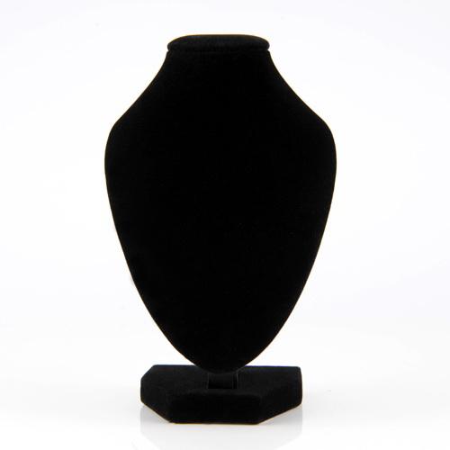1pc Black Velvet Pendant Necklace Chain Bust Neck Display Holder Stand Showcase(China (Mainland))