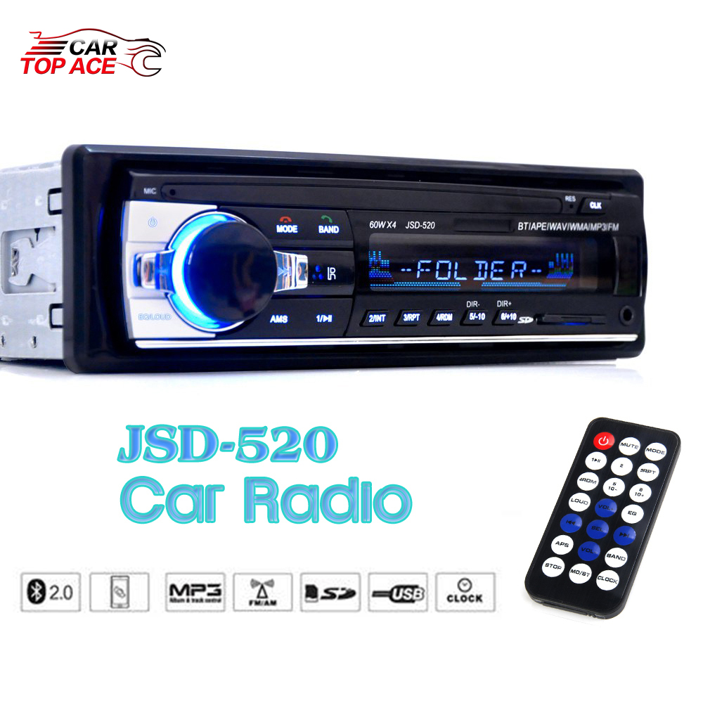 jsd 520 car radio 1 din stereo audio mp3 player. Black Bedroom Furniture Sets. Home Design Ideas