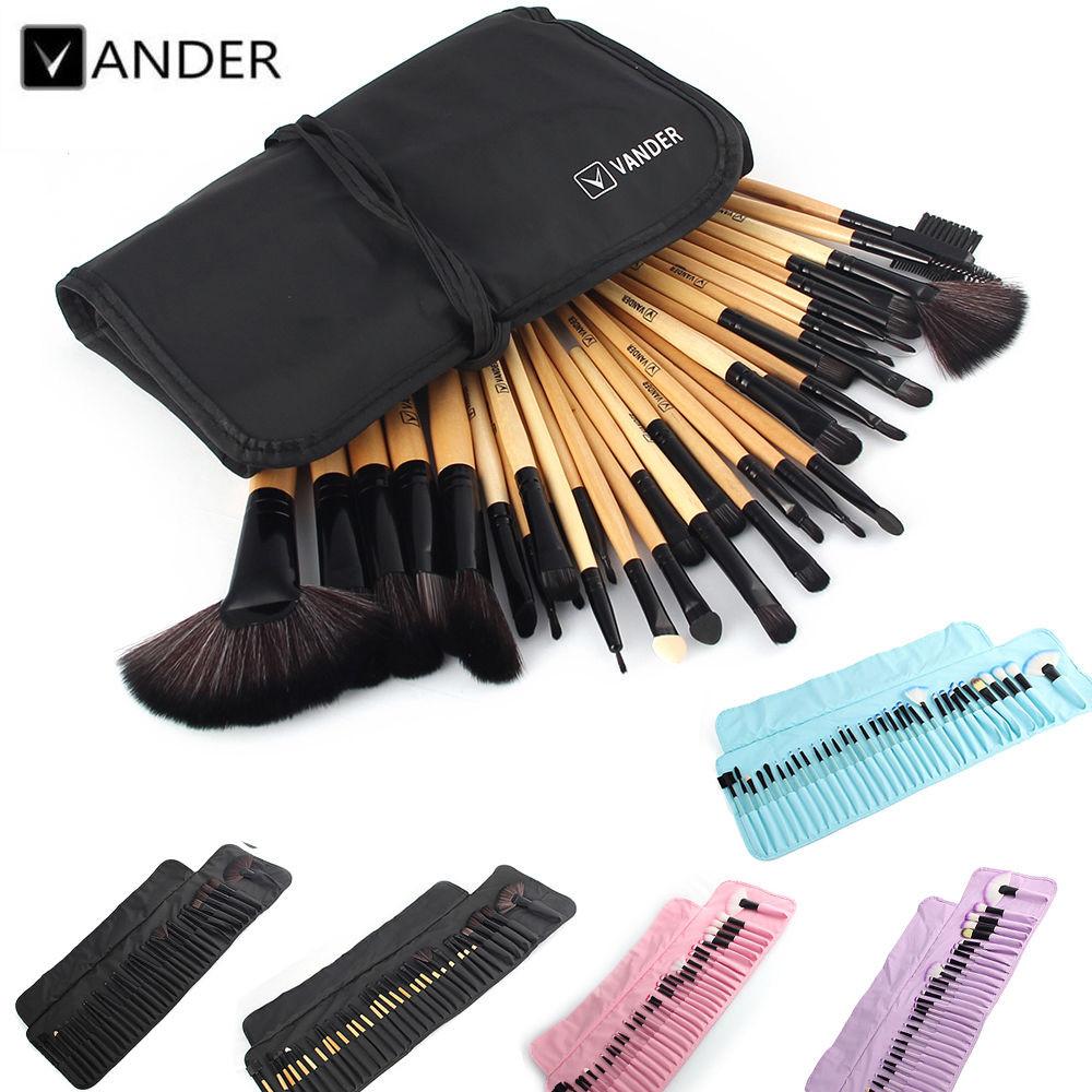 VANDER 32Pcs Set Professional Makeup Brush Foundation Eye Shadows Lipsticks Powder Make Up Brushes Tools w/ Bag pincel maquiagem