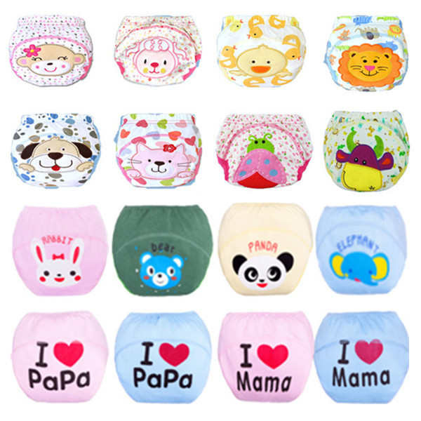 1 PC Baby Training Pants/Baby Diaper/Reusable Nappy/Washable Diapers/Cotton Learning Pants/Same Style Bibs/Free Shipping(China (Mainland))