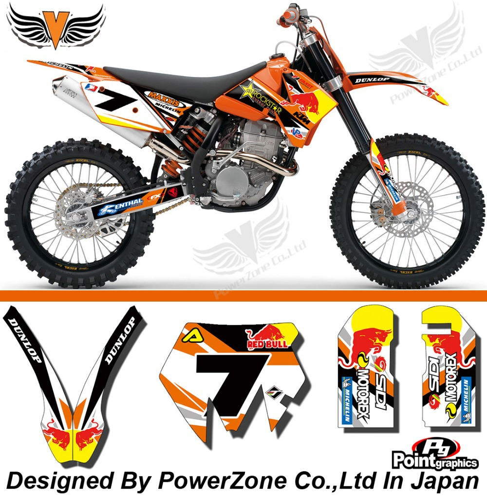 Team Graphics & Backgrounds Decals Scratch Resistant 3M RK Stickers Kit For KTM SX SXF 03-04 05-06 10  EXC 05 06 07 Free Shpping