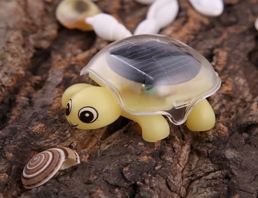 Solar toy mini tortoise diy birthday gift tortoise