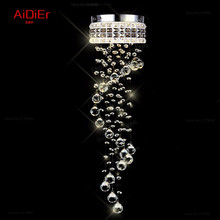 modern LED Crystal Light aisle small vestibule Spiral staircase chandelier lamp corridor hallway lights balcony aisle lighting(China (Mainland))