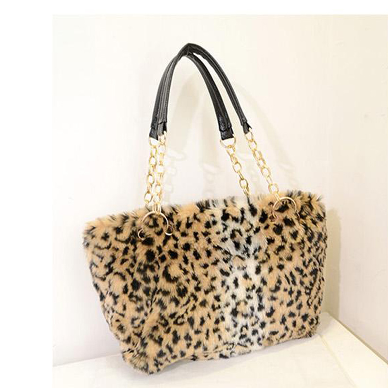 2015 New Fashion Bag Handbags Women Famous Brand Desigual Fur Shoulder Bag With Fur High capacity