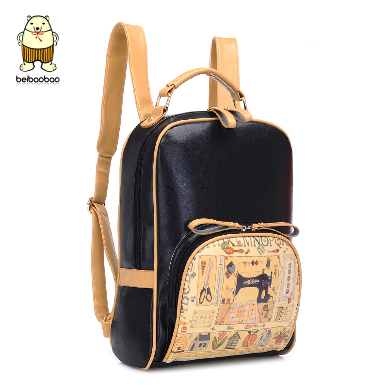 High school backpacks fashion crazy backpacks Korean style fashion girl bag