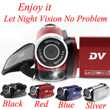 Digital Camera Professional 2.4″ 4X Digital Zoom Smile Capture Anti-Shake Video Camcorder External LED Fill Light HD-90 DV