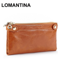 Buy Fashion Long Design Card Wallet Women Genuine Leather Female Coin Purse Double Zipper Women Wallets Fashion Clutch Bags for $19.61 in AliExpress store