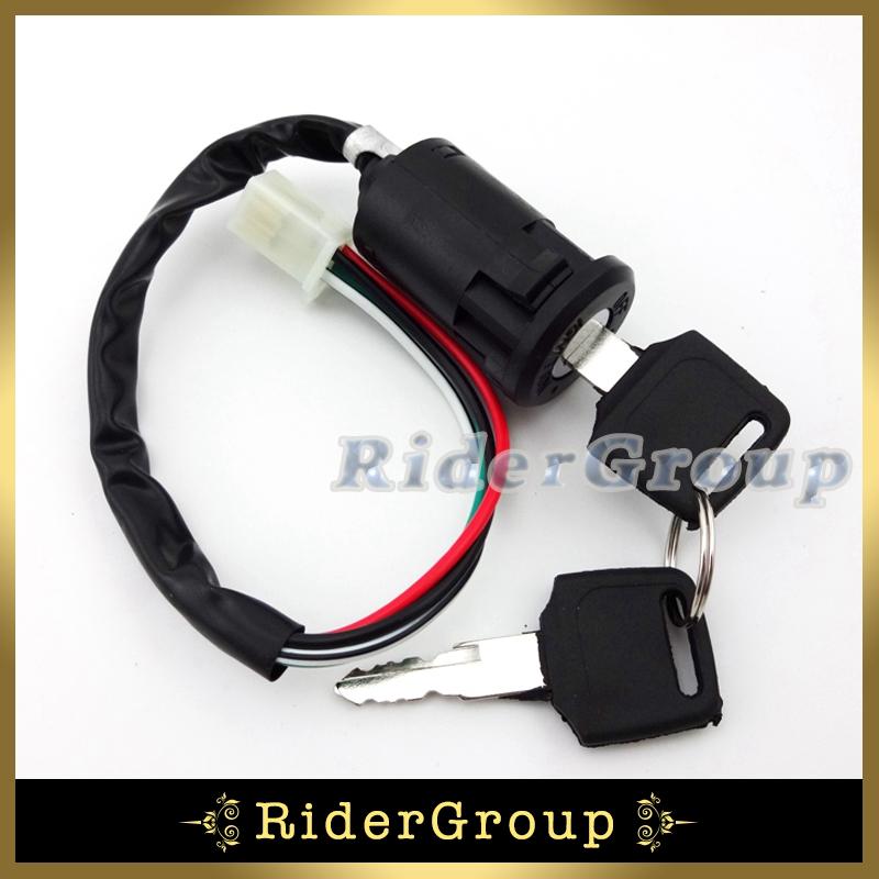 2 шт. на от зажигания 4 провод для китайской мопед скутер квадроцикл ATV Go Kart байк мотоцикл мотоцикл