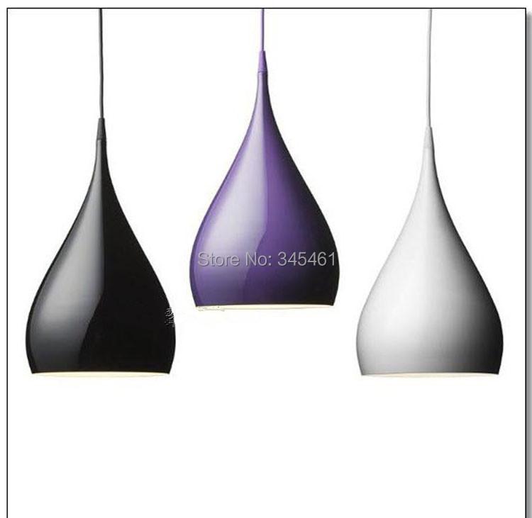 3 PCS Fashion Design Horn Shape Modern Art Pendant light Purple Black White Living Room Pendant lamp Improve your living Quality<br><br>Aliexpress