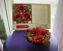 2 pcs Christmas art candles candle flower kit christmas candle holder 1 box 2 candles wedding gift free shipping(China (Mainland))