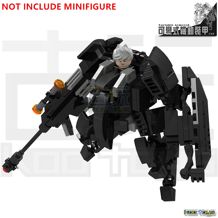 MOC ARMED MECH SWAT CITY Police Figures Variable Armored v3.0 STAR WARS Minifigures Assemble Building Blocks Kids Toys - LEG0 TOYS store