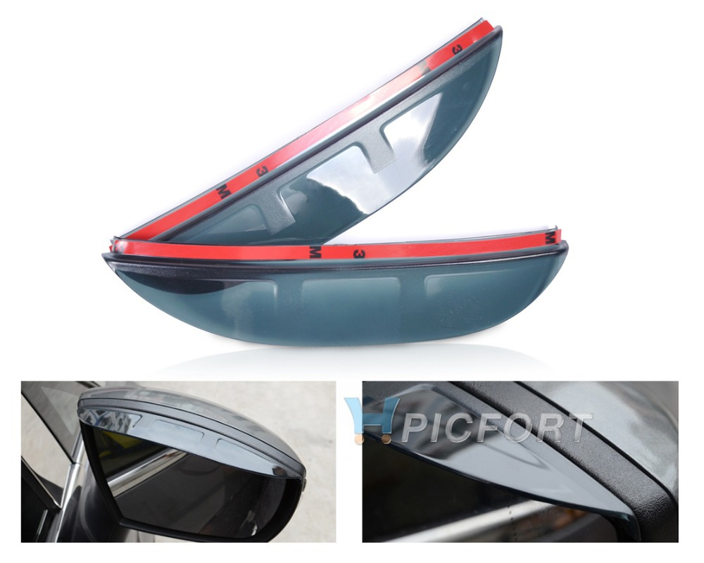 Free shipping # 2X Rearview Mirror Rain Snow Shield Guard Board Sun Visor Shade for Ford Kuga Escape EcoSport 2013 - CA01541(China (Mainland))