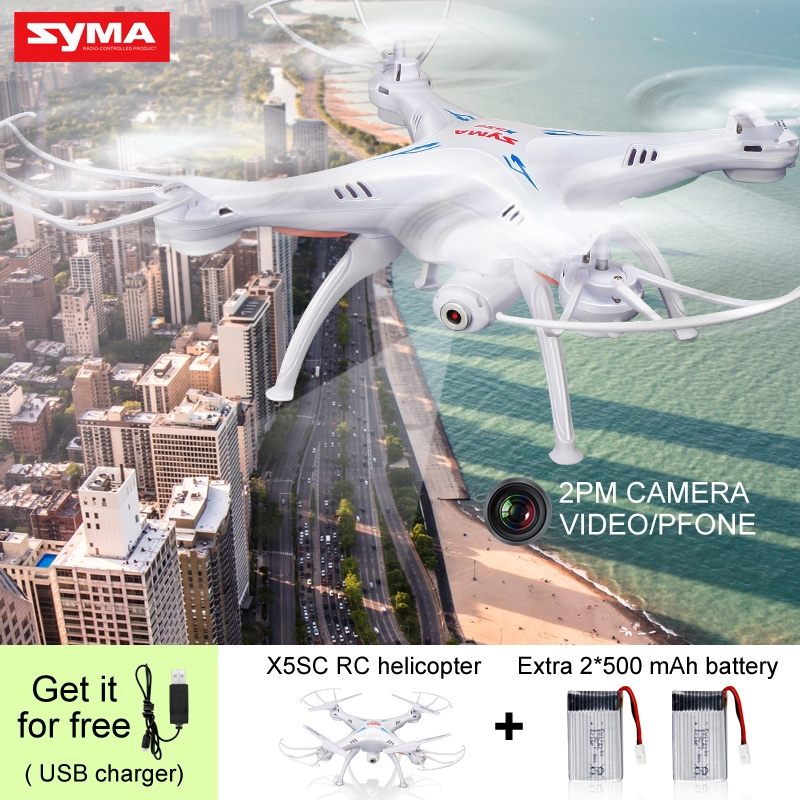 Factory Price Headless Syma X5SC Quadcopter Rc Helicopter Drone With 2MP Camera Hd 2.4G 4CH 6Axis Gyro Profession Nest Toys Nerf