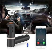Car Top New MP3 Player Radio USB For iPhone Samsung Handsfree Handfree FM Transmitter Cigarette lighter Modulator 2.1A(China (Mainland))