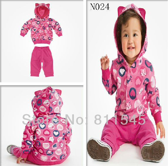 Retail Fashion Girl Outfit Childrens Suits Kids Jacket Pants Toddler Clothes for Baby Girls Clothing Set Autumn 2013 New Arrival(China (Mainland))