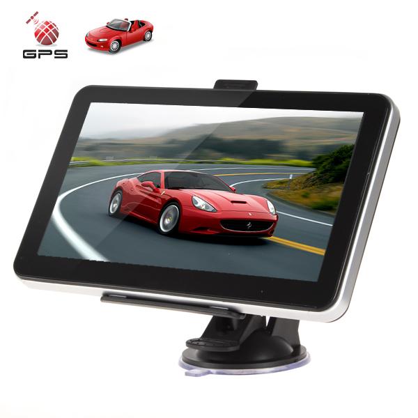4sets Professional 7 Inch AV In Portable Auto Car GPS Navigation Navigator System FM Radio MP3 MP4 USB SD Built in 4GB Memory(China (Mainland))