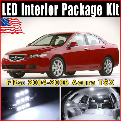 14pcs Xenon White Car LED Lights Interior Package Combo Deal for Acura TSX 2004-2008 Hot Selling Free Shipping(China (Mainland))