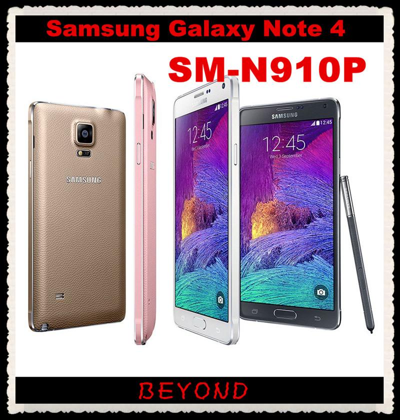 "Samsung Galaxy Note 4 N910P Sprint Original Unlocked 4G LTE GSM Android Mobile Phone Octa Core 5.7"" 16MP RAM 3GB ROM 32GB(China (Mainland))"