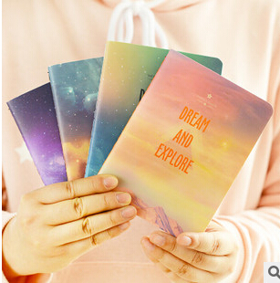 Fantastic Galaxy Star Sky A6 Notebook Diary Book Exercise Composition Notepad Escolar Papelaria Gift Stationery<br><br>Aliexpress