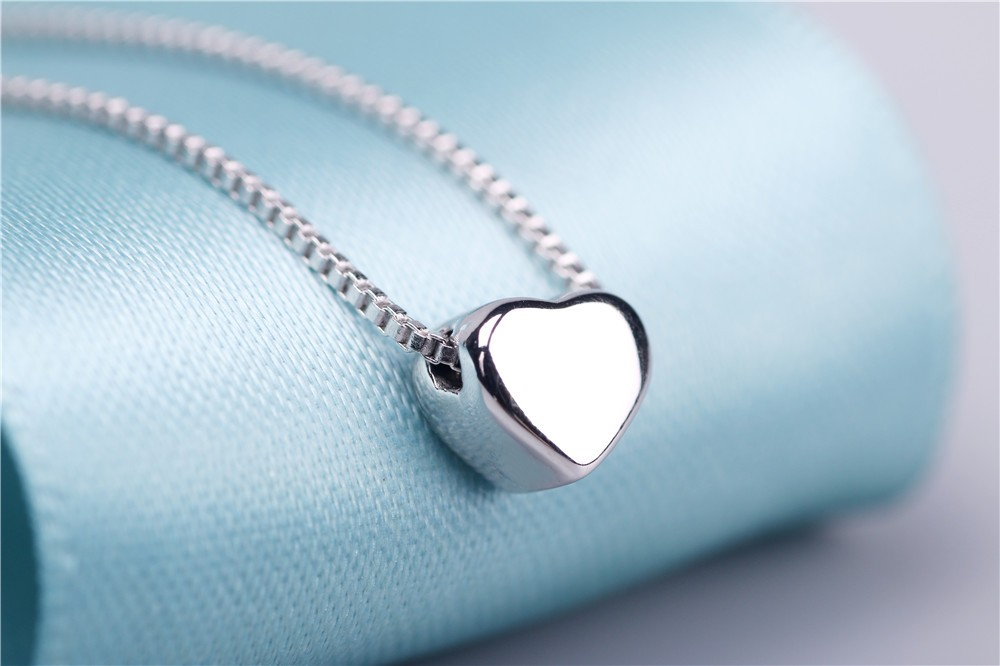100% Silver 925 Necklace with Small Heart Pendant