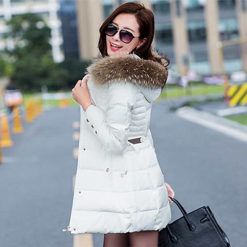 Winter thickness keep warm women fashion parkas classic luxurious fur collar midum long style female cotton clothing tide coat Одежда и ак�е��уары<br><br><br>Aliexpress