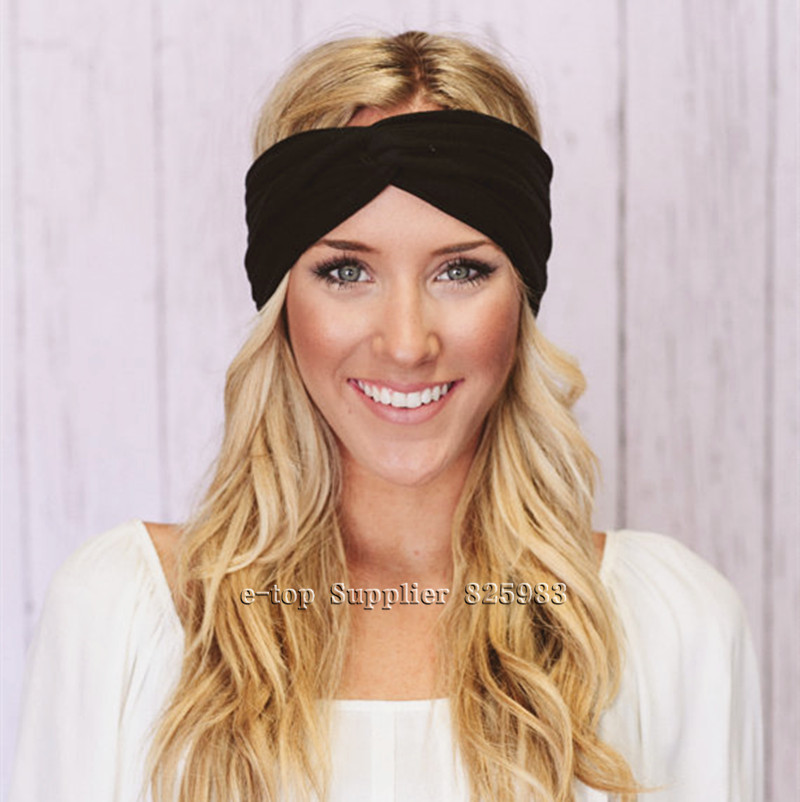 Hot Sales Twist Turban Headband Sport Yoga Stretch Headbands for Women Hair bands Bandana Head wrap Girls Hair Accessories A0406(China (Mainland))